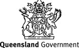 Queensland Government Coat of Arms - mono one-line stacked